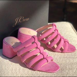 J. CREW strappy  slide sandals size 8 block heel